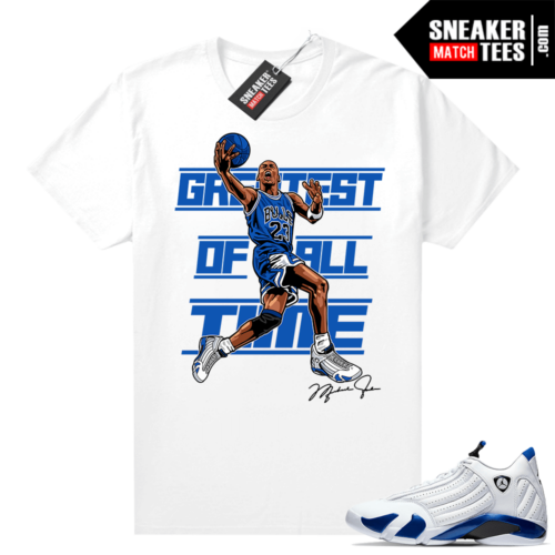 Jordan match shirts Hyper Royal 12s