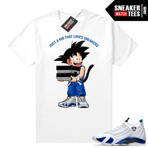 Jordan 14 Hyper Royal Sneaker shirt