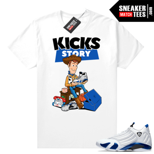 Jordan 14 Hyper Royal Sneaker tees