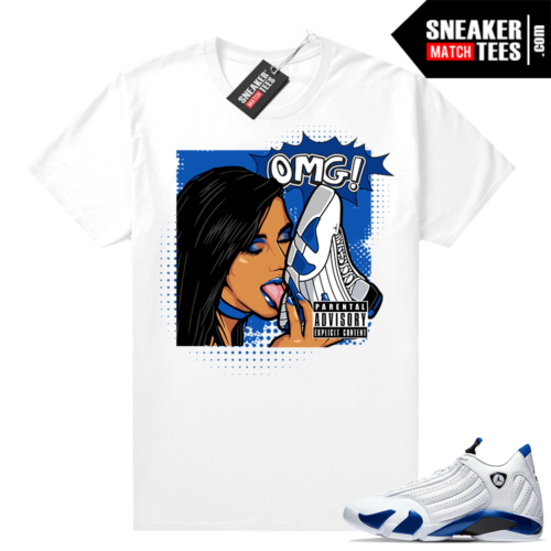 Hyper Royal 14s shirt to match