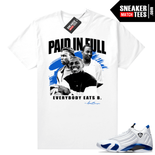 Hyper Royal 14s matching shirt