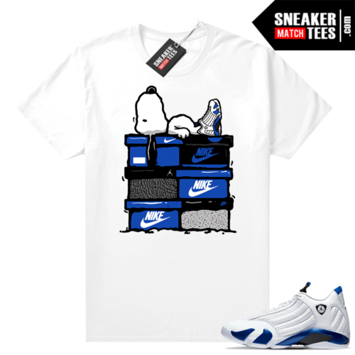 Hyper Royal 14s sneaker shirts