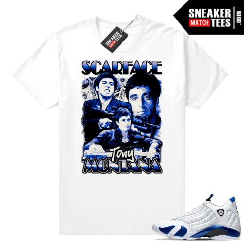 Jordan 14 Hyper Royal shirt