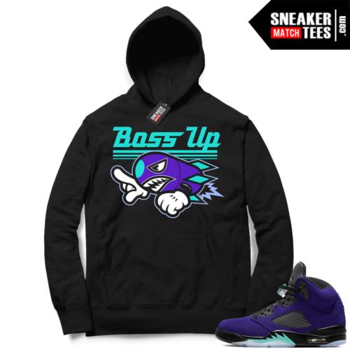 Alternate Grape 5s sneaker Hoodie
