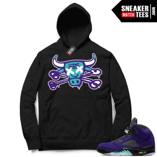 Alternate Grape 5s matching sneaker Hoodies