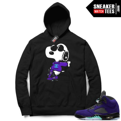 Jordan 5 Alternate Grape Sneaker Hoodie