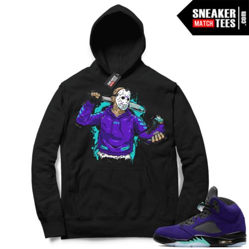 Jordan match sneaker Hoodie Alternate Grape 5s