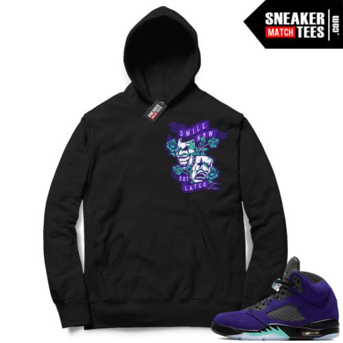 Jordan sneaker Hoodies Alternate Grape 5s