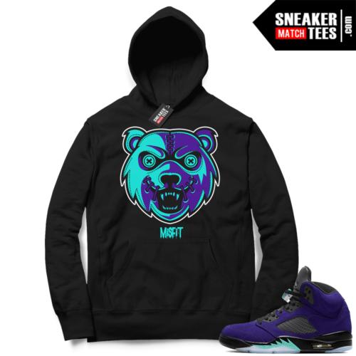 Sneaker Hoodies Alternate Grape 5s