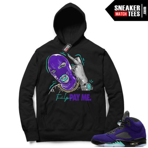 Alternate Grape Jordan 5 Hoodies