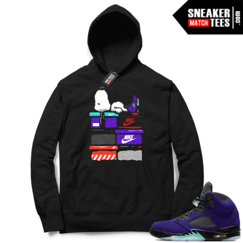 Alternate Grape 5s sneaker Hoodies