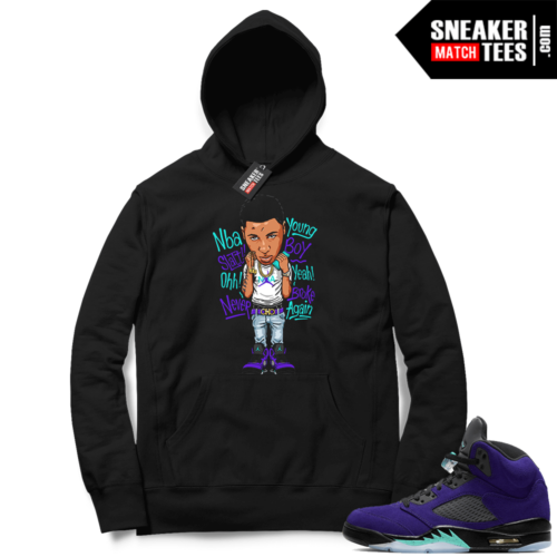 Alternate Grape 5s sneaker Hoodie outfits
