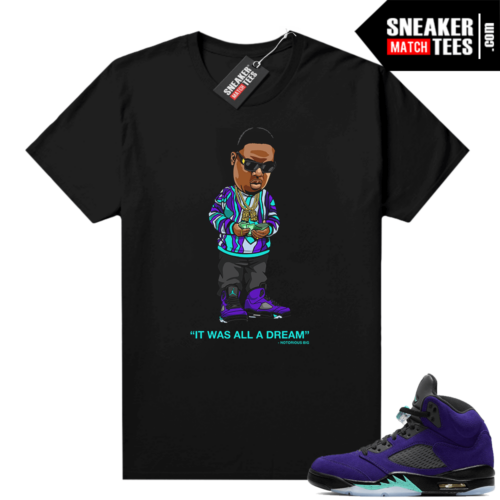 Alternate Grape 5s sneaker shirts