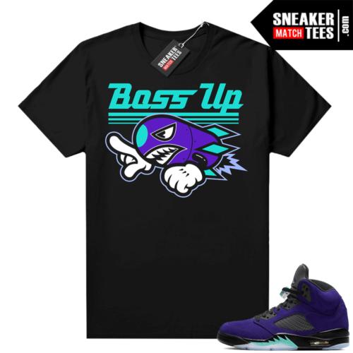 Air Jordan 5 sneaker tees Alternate Grape