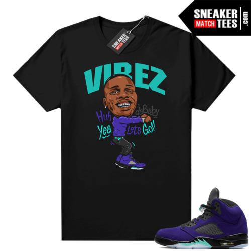 Air Jordan 5 Retro Alternate Grape sneaker tees