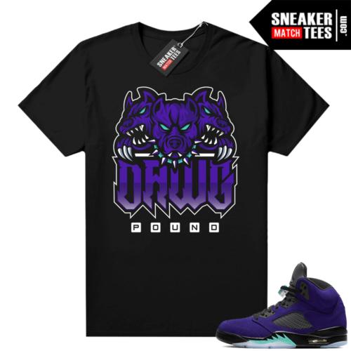 Jordan 5 Alternate Grape graphic tees