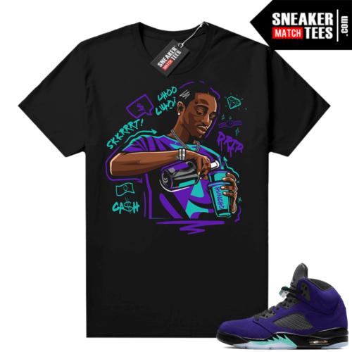 Jordan 5 Alternate Grape sneaker match tees