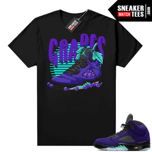 Match Alternate Grape 5s sneaker shirts
