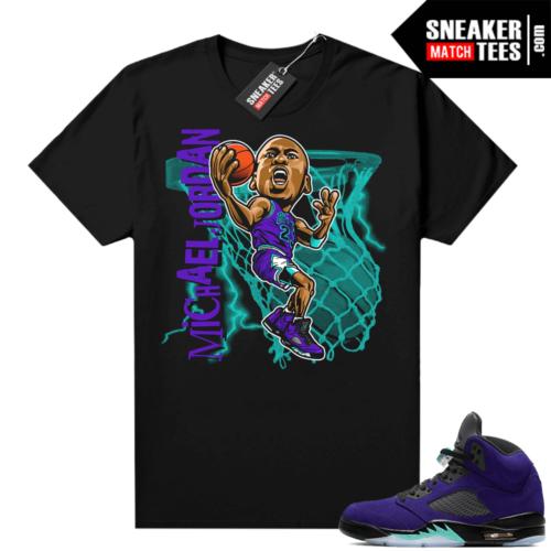 Alternate Grape Jordan matching shirt