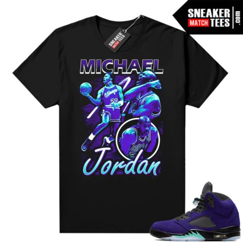 Alternate Grape Jordan 5 matching tee