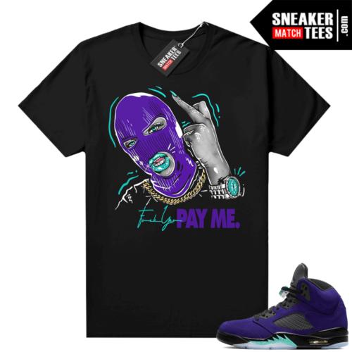 Jordan retro 5 Alternate Grape sneaker tees