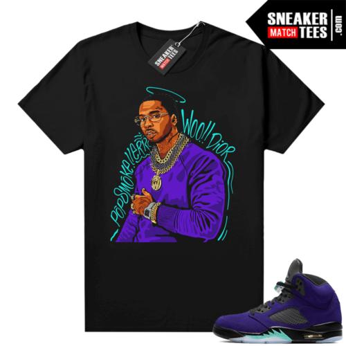 Jordan retro 5 Alternate Grape sneaker tee