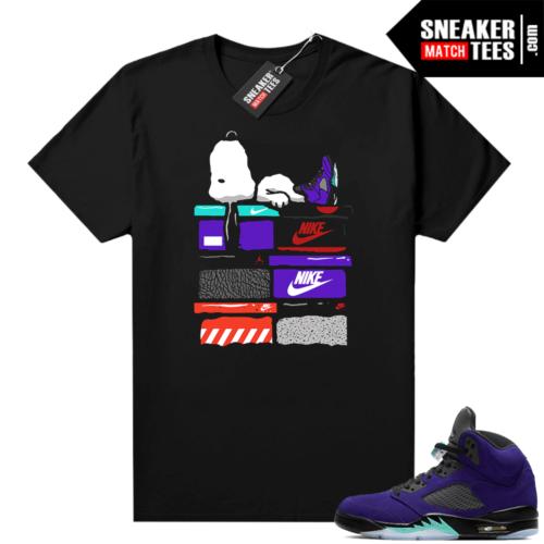 Sneaker shirt to match Jordan retro 5 Alternate Grape