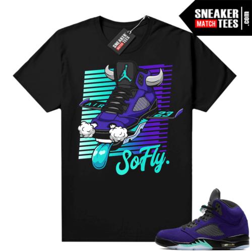 Sneaker tee to match Jordan retro 5 Alternate Grape