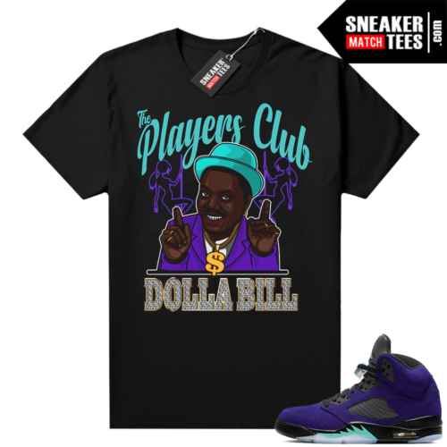 Sneaker tee shirts Jordan retro 5 Alternate Grape