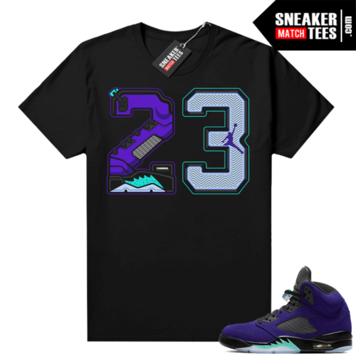 Alternate Grape 5s shirts to match sneakers