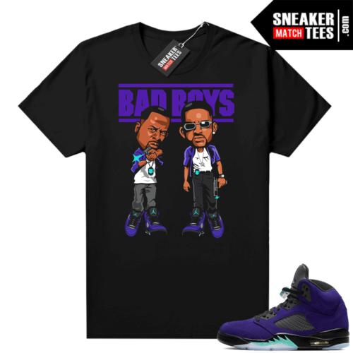 Alternate Grape 5s shirt outfit