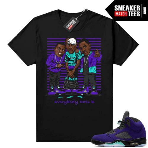 Sneaker tees Alternate Grape 5s