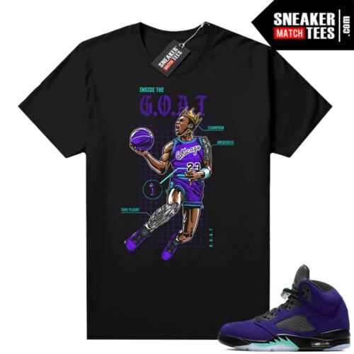 Jordan 5 Alternate Grape shirt
