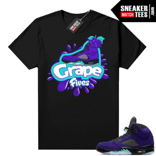 Jordan 5 Alternate Grape Matching tee