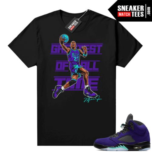 Sneaker Match Alternate Grape 5s