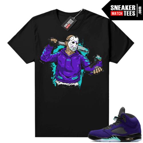 Jordan match shirts Alternate Grape 5s