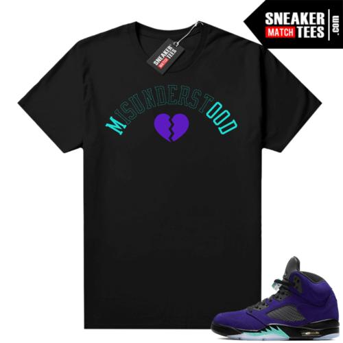 Jordan match sneaker tee Alternate Grape 5s