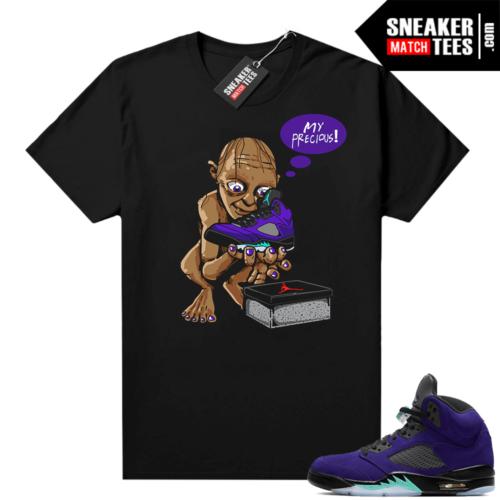 Jordan sneaker tees Alternate Grape 5s