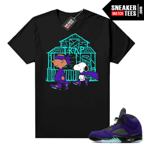 Alternate Grape Jordan match shirts
