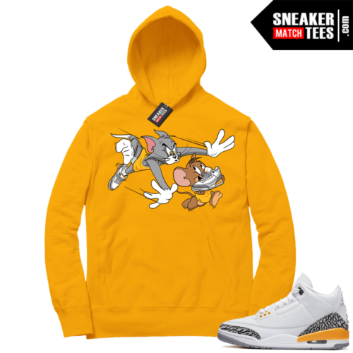 Laser Orange 3s Hoodies to match sneakers