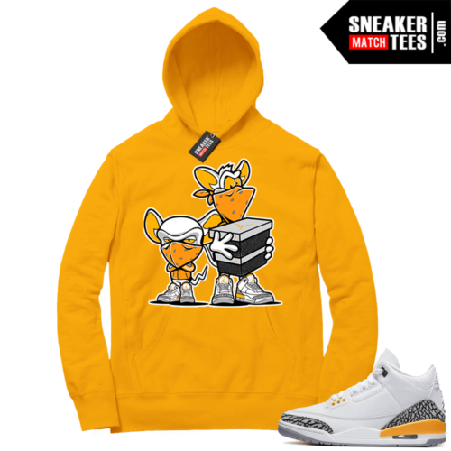 Laser Orange 3s matching sneaker Hoodies
