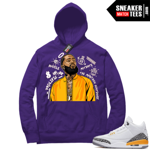 Sneaker Match Laser Orange 3s Hoodie