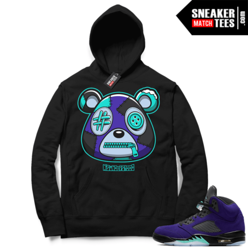 Misunderstood Bear ™ Alternate Grape 5s Hoodie Black