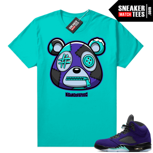 Misunderstood Bear ™ Alternate Grape 5s Match Tees Aqua