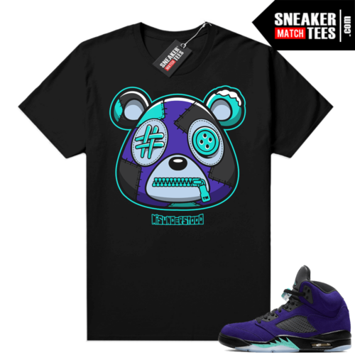 Misunderstood Bear ™ Alternate Grape 5s Match Tees Black
