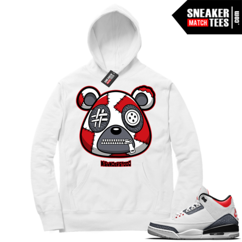 Misunderstood Bear ™ Denim 3s Hoodie White