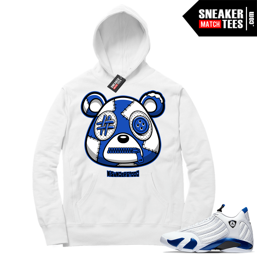 Misunderstood Bear ™ Hyper Royal 14s Hoodie White