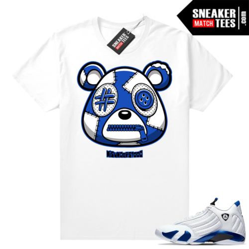 Misunderstood Bear ™ Hyper Royal 14s Match Tees White