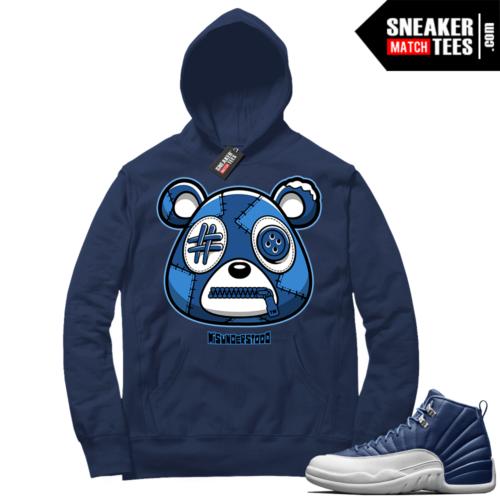 Misunderstood Bear ™ Indigo 12s Hoodie Navy