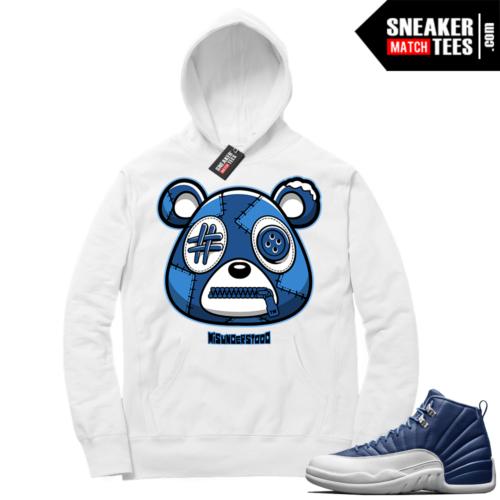 Misunderstood Bear ™ Indigo 12s Hoodie White